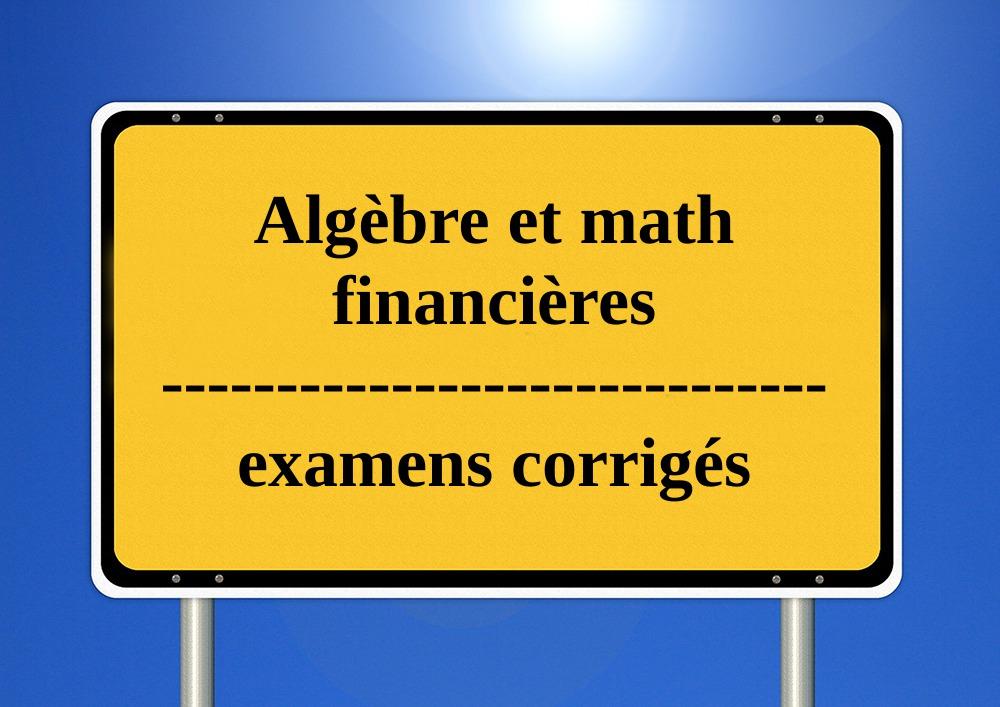 Algèbre,et,mathématiques,financières