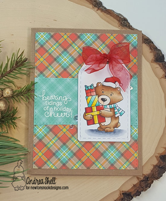 Bearing Tidings of Christmas Cheer by Andrea features Winston's Home for Christmas by Newton's Nook Designs; #newtonsnook