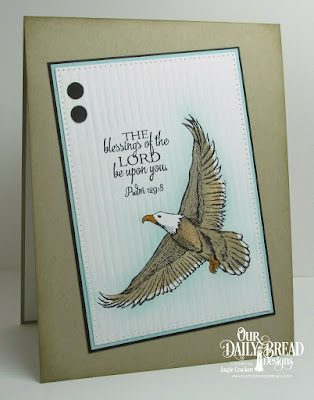 ODBD On Eagle's Wings, ODBD Doily Blessings, ODBD Custom Pierced Rectangles Dies, Card Designer Angie Crockett
