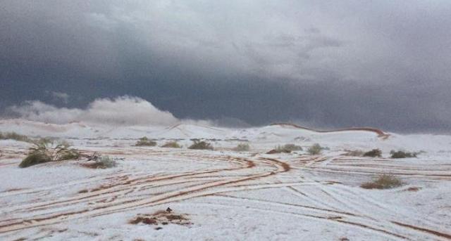 Arab Saudi Diselimuti Salju, Apa yang akan terjadi ?
