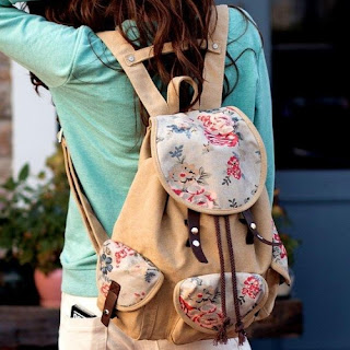 Cute floral school bag