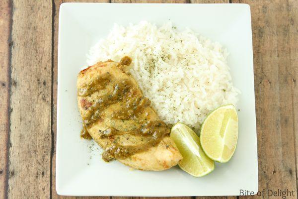 Coconut Lime Chicken   Coconut Rice   Easy Recipe