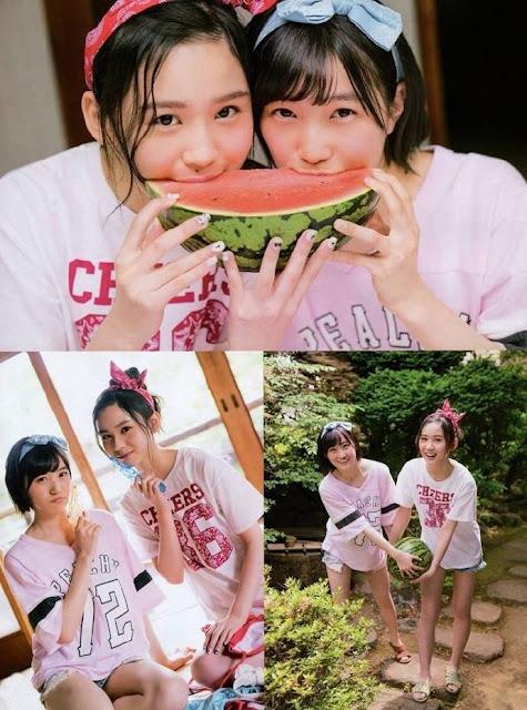 HKT48 Misaki Aramaki and Erena Sakamoto Entame Gravure Photos 04