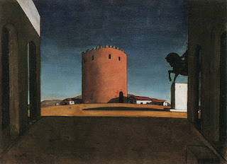 The Red Tower, which De Chirico painted in 1913