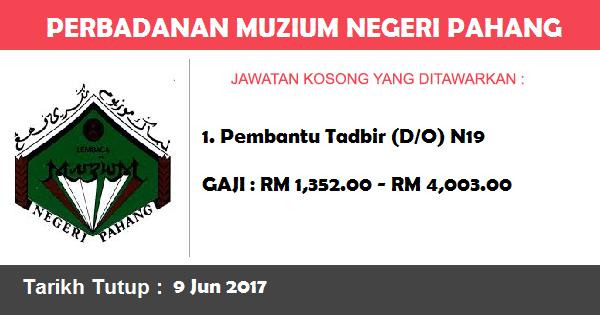 Jawatan Kosong di Perbadanan Muzium Negeri Pahang