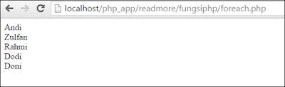 perulangan foreach pada php