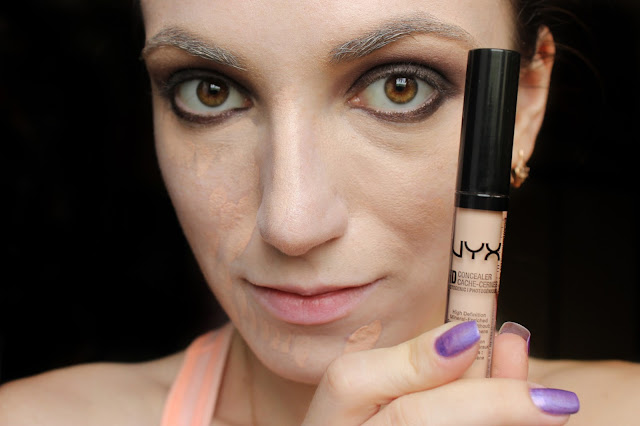 twenties make-up: HD Сoncealer NYX