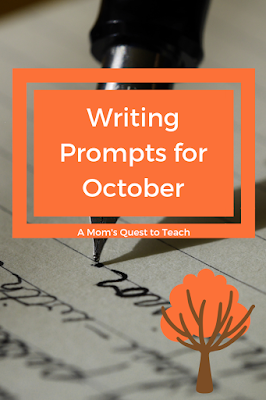 Pen and paper; leaves for October