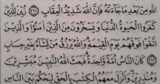 Hanya Ada Dua Surat Di Al Qur'an Yang Miliki Ayat 212, Isinya Pun Sangat Pas Dengan Kondisi Saat Ini
