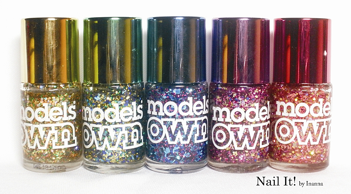 Models Own Mirrorball Collection  (swatch + mani)