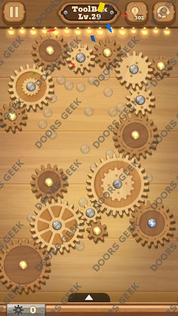 Fix it: Gear Puzzle [ToolBox] Level 29 Solution, Cheats, Walkthrough for Android, iPhone, iPad and iPod