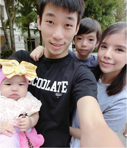 Chan Peng Soon, 28, is married to local singer Ester Cham May May and they have a son and a daughter.