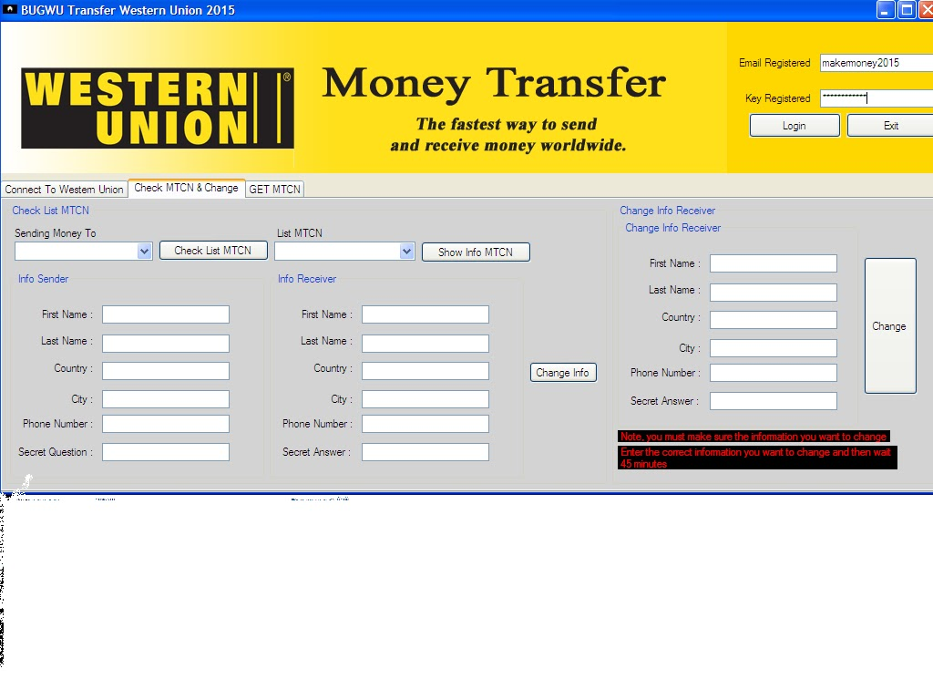 Western Union Software
