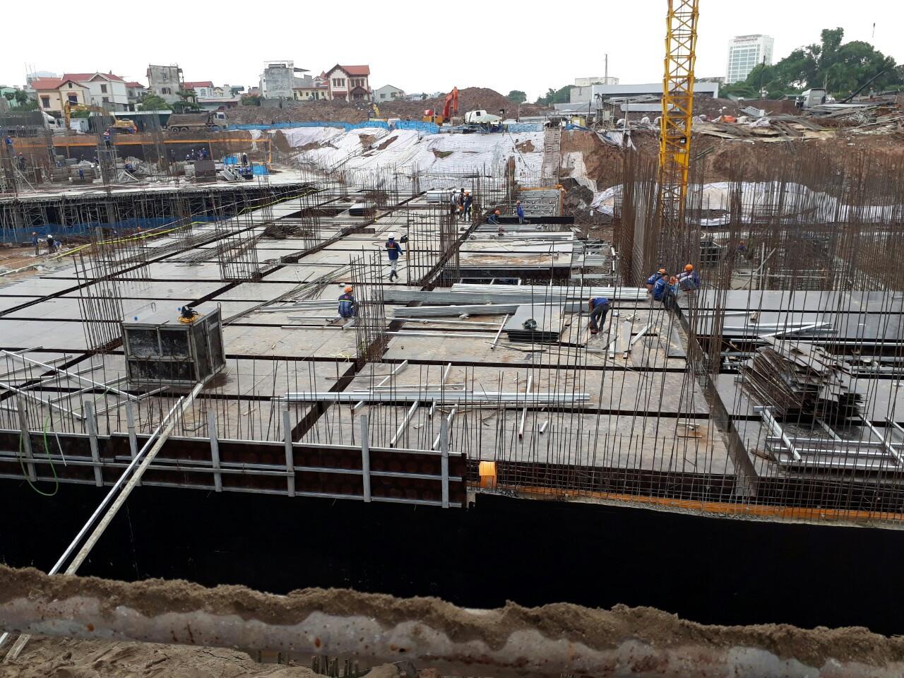 tiến độ xây dựng của dự án chung cư Hateco Apolo Xuân Phương