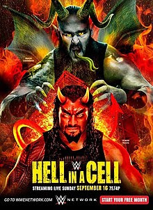 Poster Of WWE Hell In A Cell PPV 16th September 2018 HDTV 480P 300MB
