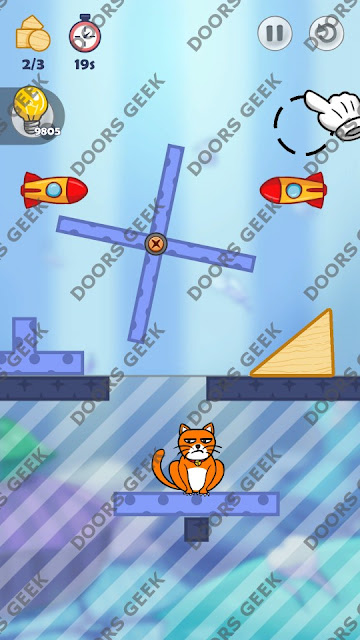 Hello Cats Level 127 Solution, Cheats, Walkthrough 3 Stars for Android and iOS