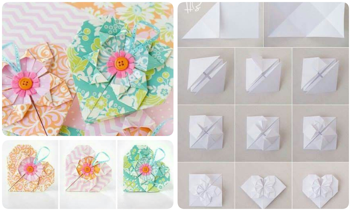 Make A Origami Heart Flower Crazzy Craft
