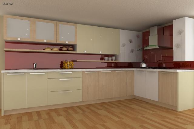 thiết kế tủ bếp ván mfc