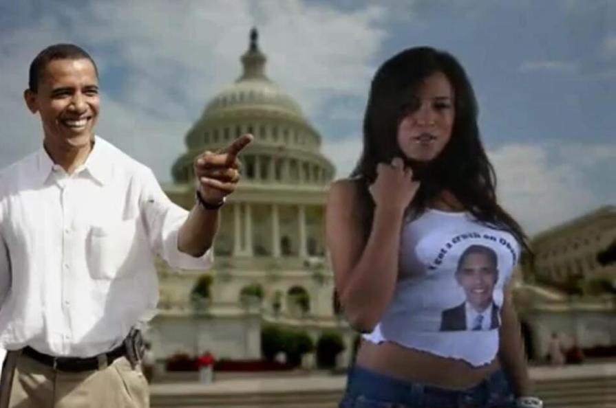 Obama girl crush video, allanah starr big boob adventures