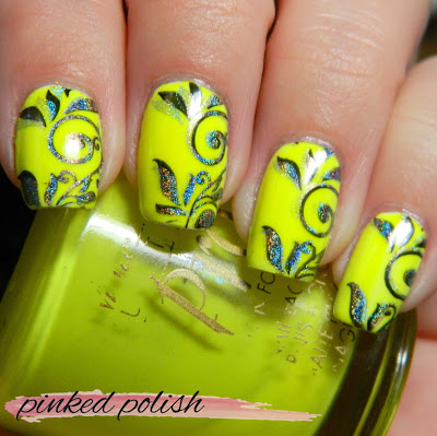 Neon Double Stamping and some thoughts on blogging
