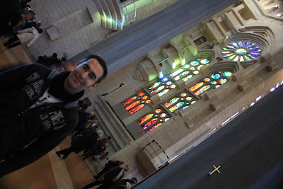 Inside Sagrada Familia Basilica in Barcelona