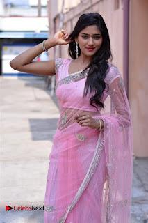Telugu Actress Shalu Chourasiya Stills in Cute Pink Saree at Pochampally IKAT Art Mela  0012.jpg