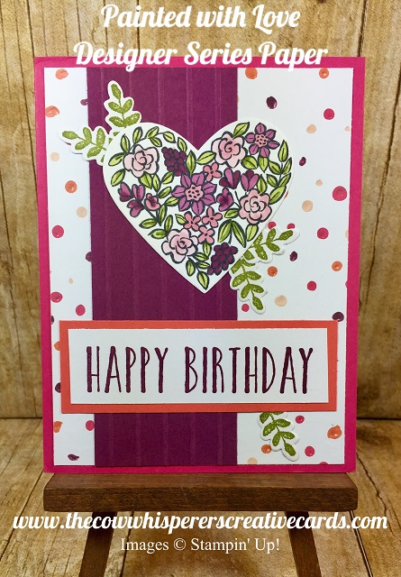 Painted with Love Designer Series Paper, Card, Simple Stripes, Heart Happiness