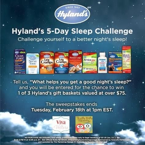 Hyland's Sleep Challenge sweepstakes