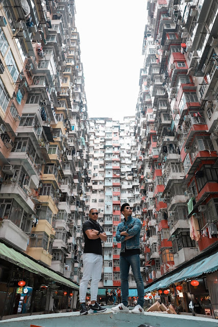 Leo Chan, Levitate Style, and Wil Fang wearing Denim Look in Hong Kong