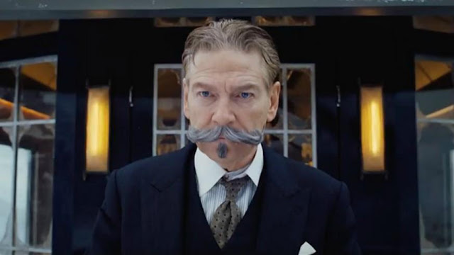 "Kenneth Branagh as Hercule Poirot in ""Murder on the Orient Express"""