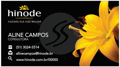 cartao de visita hinode flor - Cartões de Visita Hinode