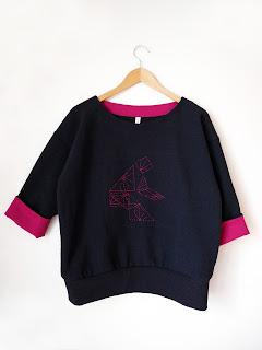 créatrice créateur vetements ékicé pull tangram broderie coton tissu japonais japonisant slowmade