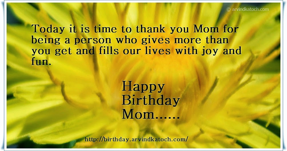 joy, fun, flower, Birthday Card, Mom, Mother