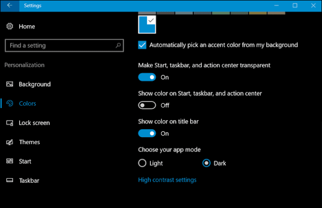 Aktifkan Mode Gelap untuk Pengaturan dan Aplikasi di Windows 10