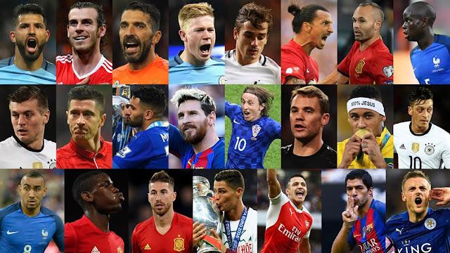 Melhor jogador do mundo em 2016: estes são os 23 finalistas