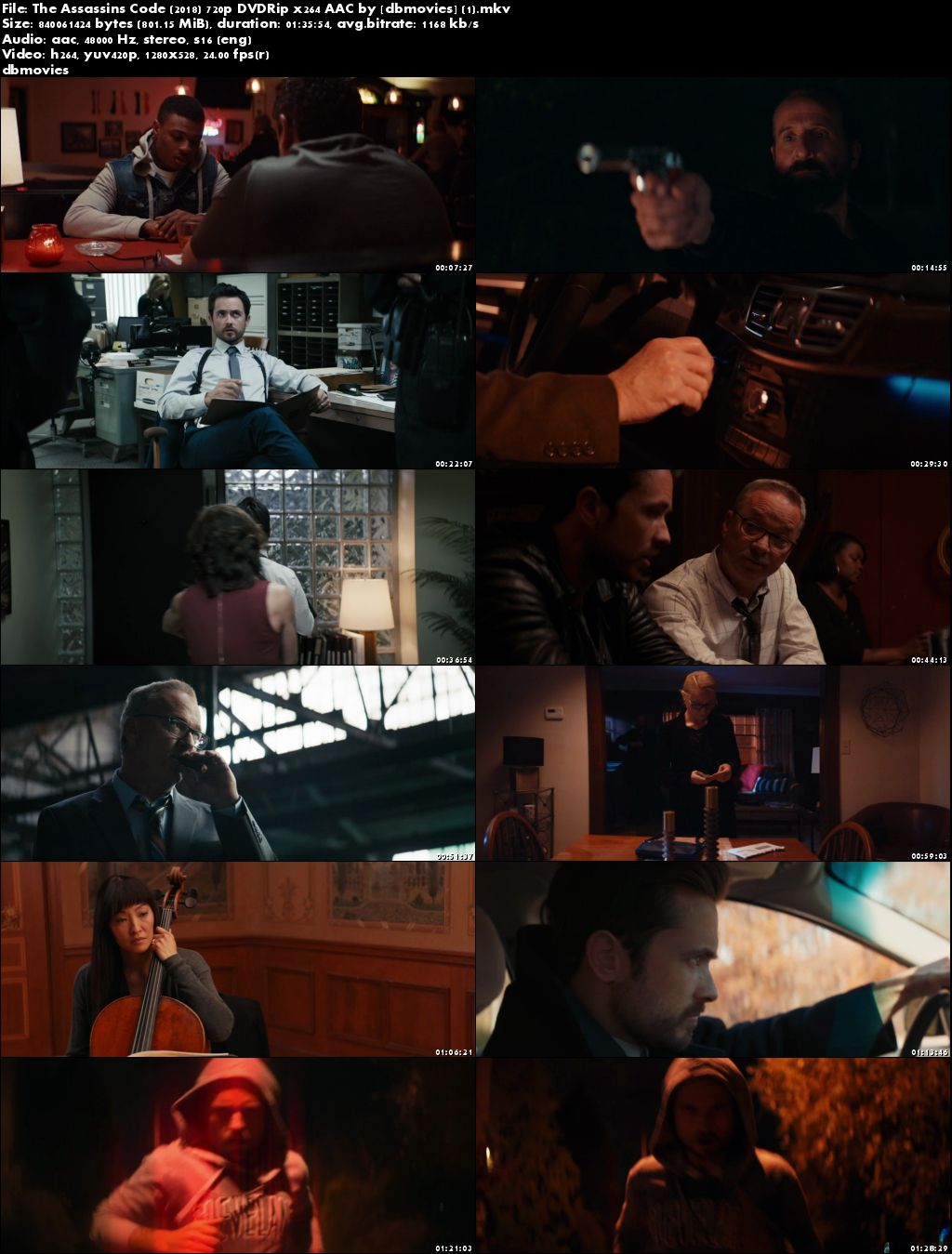 screen shot The Assassin's Code 2018 Full Movie Download English HDRip