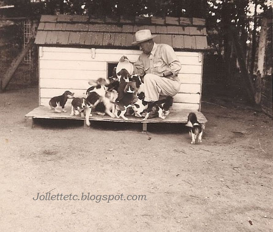 Fred Slade Sr. and Beagles http://jollettetc.blogspot.com