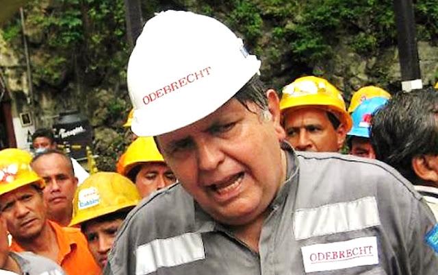 Odebrecht, pagó 100 mil dólares al expresidente Alan García