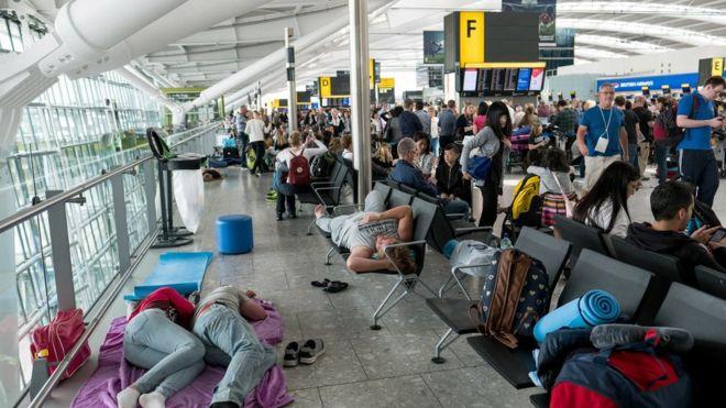 Passengers stranded