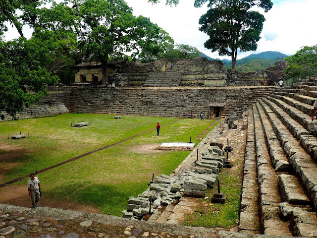 Temple ruins outside Copan, Honduras