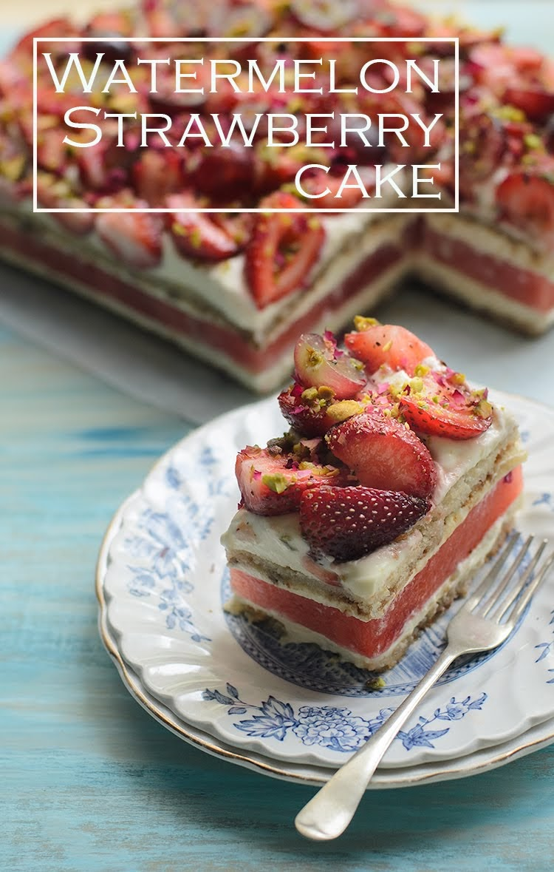 copycat Watermelon and Strawberry Cake photo