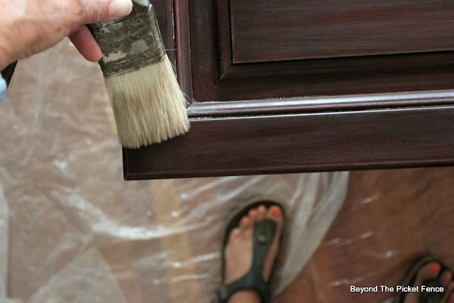 remove all sawdust with a paintbrush