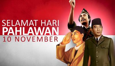Kata kata ucapan Selamat hari PAHLAWAN 10 November terbaru dan terbaik