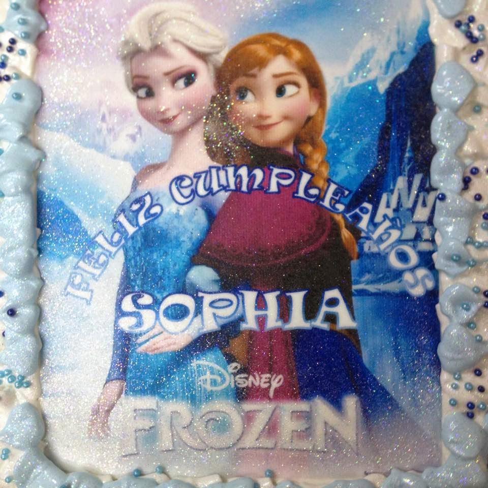 Pastel de cumpleaños de Frozen