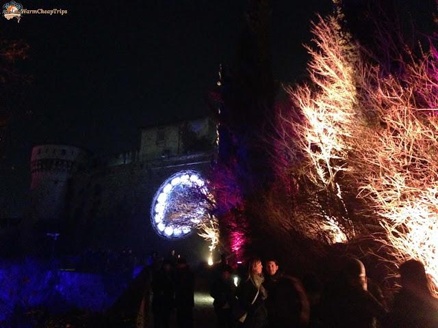 CidneOn, festival delle luci Brescia, castello di brescia