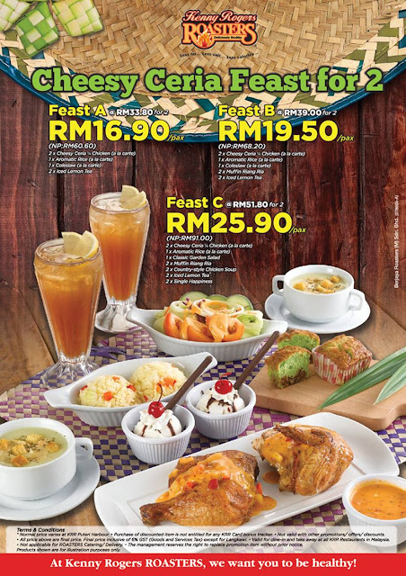 Kenny Rogers ROASTERS Malaysia Cheesy Ceria Feast
