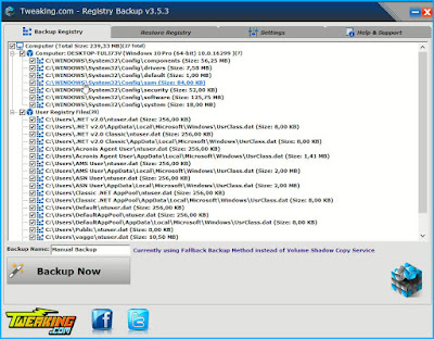 Registry Backup : Δημιουργήστε αντίγραφα ασφαλείας του μητρώου των Windows