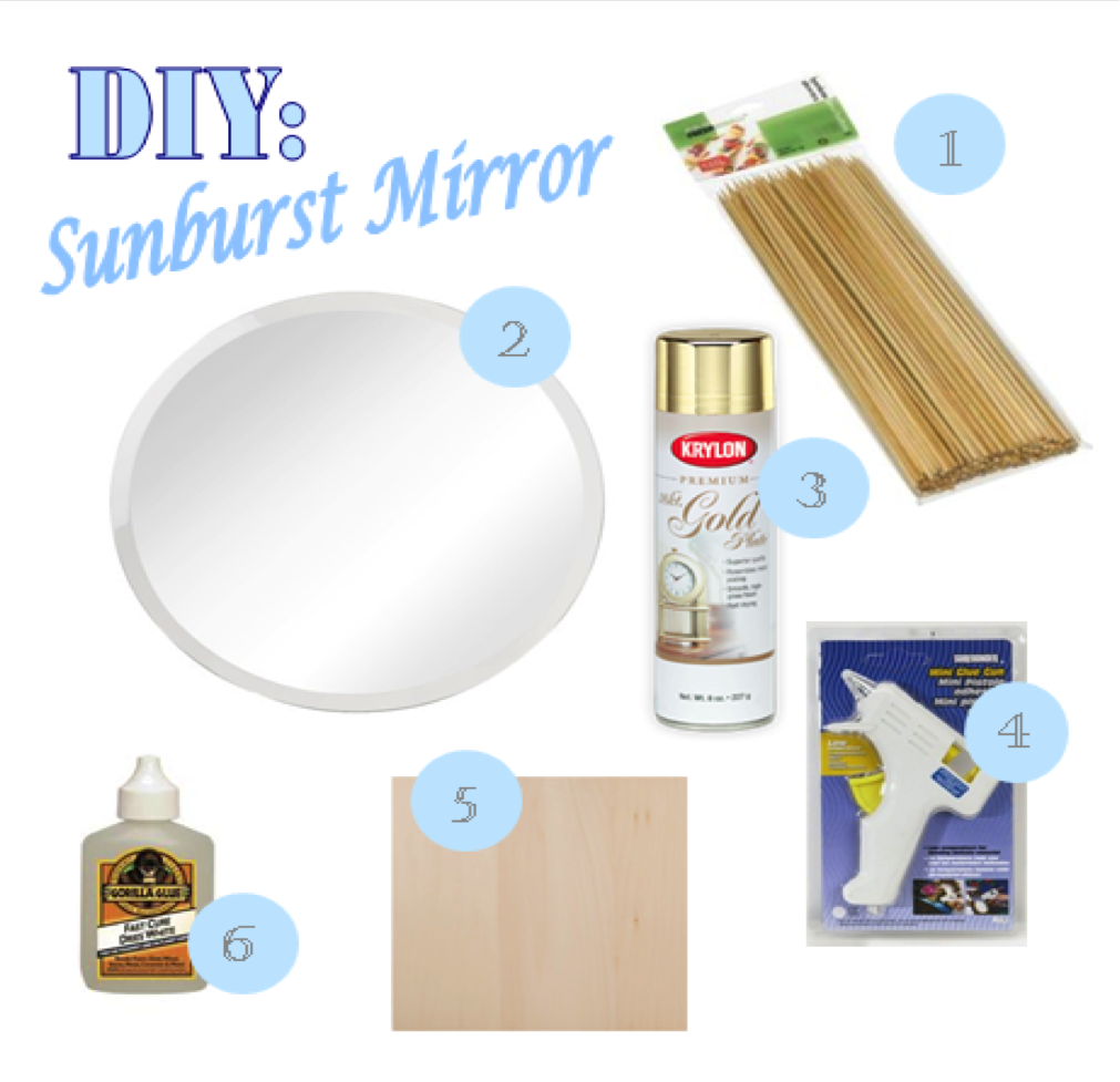 Swimming in Champagne: DIY: Sunburst Mirror