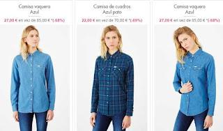 camisas vaqueras para mujer