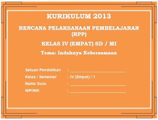 Contoh RPP Kurikulum 2013 SD Kelas 4